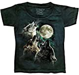 The Mountain Unisex-Child Toddler Kids Three Wolf Moon, Green, 2T