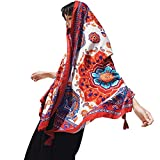 Womens Scarf Wraps Shawl Oversized Bohemian Soft Blanket 75''x 40''-Boho Throw Blanket-Picnic Blanket-Bed Runner-Tablecloth,Sheer Gift for Women Girls (W12)