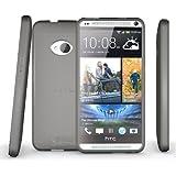HTC One Case (2013, Model M7) , Diztronic Matte Back Aluminum Gray Flexible TPU Case for HTC One M7 (2013)