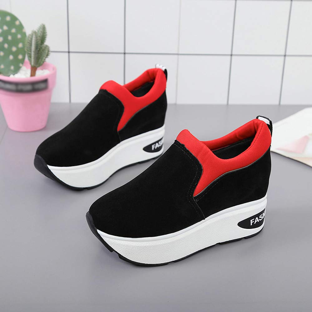 Claystyle Women Fashion Sneakers Sports Running Hiking Thick Bottom Platform Shoes(Red,US: 6.5) by Claystyle Shoes (Image #5)