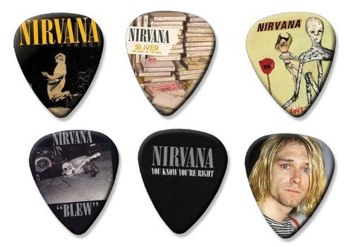 Nirvana Kurt Cobain Set of 6 Loose Gitarre Plektrum Plektron Picks ( Collection D )