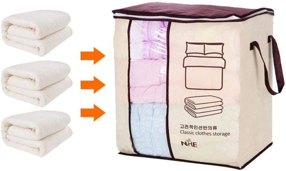 Sasarh Non-woven Portable Storage Bag Pillow Duvet Cover Clothing Organizer Bag Packing Organizers