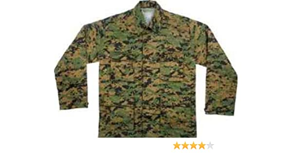 ad493743b25 Amazon.com  8691 Digital Woodland Camouflage BDU Shirt 2XL  Military  Apparel Shirts  Clothing