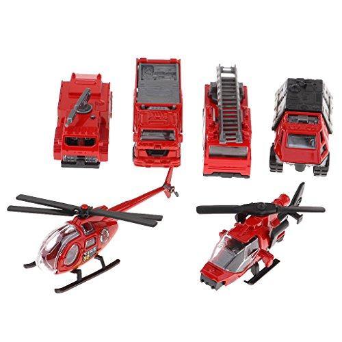 Perfk 1/87スケール 消防車モデル ヘリコプターモデル 建設車両モデル の商品画像
