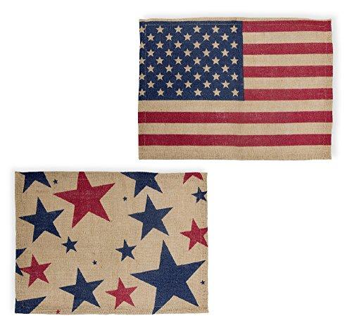 - Celebrate the Home URB18587 Placemats, Set of 4 Americana,