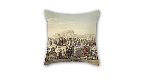 Amazon The Oil Painting Paul Sandby Horse Fair On Bruntsfield Cool Fairon Decorative Throw Pillow