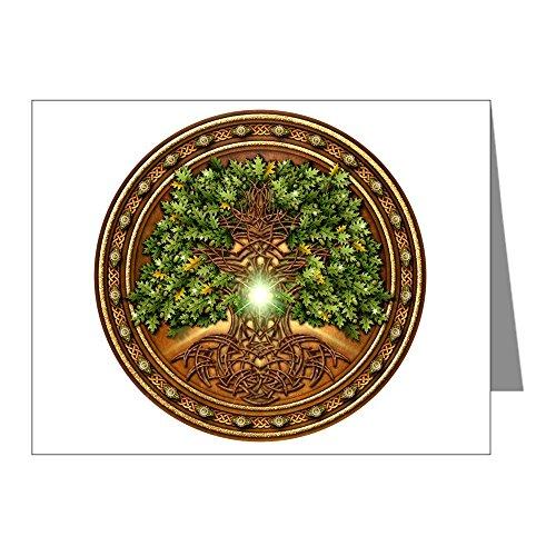 CafePress - Sacred Celtic Trees - Oak - Blank Note Cards (Pack of 20) Matte