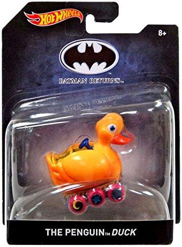 Batman Returns The Penguin Duck Hot Wheels Die Cast Car 1:50 Scale Penguins Duck