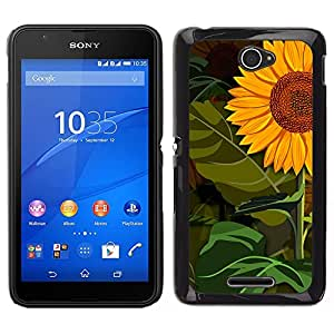 Standing Tall En medio de bosques - Metal de aluminio y de plástico duro Caja del teléfono - Negro - Sony Xperia E4