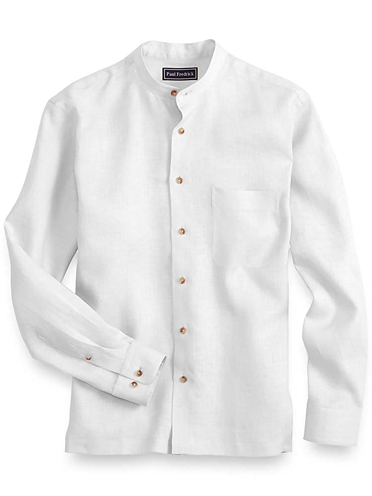 Vintage Shirts – Mens – Retro Shirts Paul Fredrick Mens Linen Casual Shirt $79.95 AT vintagedancer.com