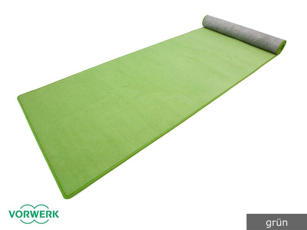 Bijou - Der Vorwerk Teppich Läufer von HEVO® in Grün 120x340 cm
