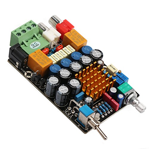 DROK 12V Digital Amplifier 2ch Audio Stereo Power Amp Board DC 11-14.5V Amplified Board with On/Off Switch DIY Car Headphone Audio Amplifier