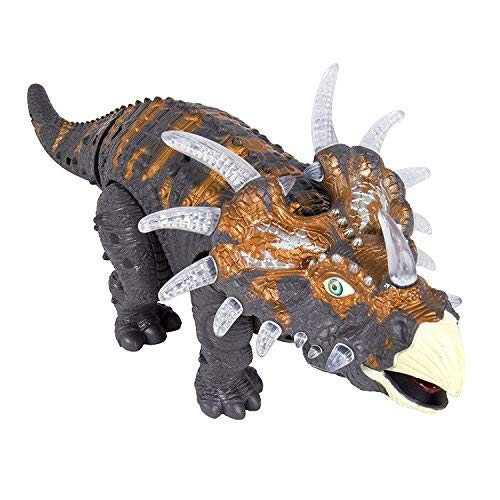 FanBell Walking Triceratops Dinosaur Toy Figure with Multicolor Lights & Loud Roar Sounds for for Boys and Girls Over 3 Years Old,Real Movement by FanBell (Image #2)