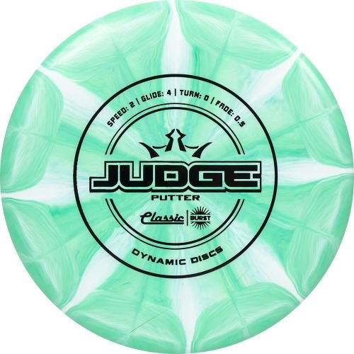 Classic Frisbee (Dynamic Discs Classic Line Burst Judge Putter Golf Disc [Colors May Vary] - 173-176g)