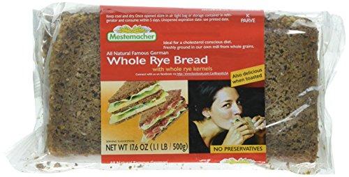 Mestemacher Rye Whole Bread, 17.6 Ounce - 1 each.
