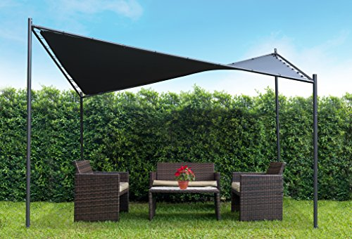 Coolaroo Butterfly Gazebo, Backyard or Patio Gazebo, 99% UV Block, Steel Frame, (13'1