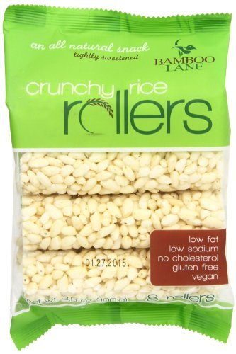 Bamboo Lane Crunchy Rice Rollers - No Place to Store 4 Packs or More? 2 Pack 3.5oz. - Vegan, Gluten Free, Low Fat, Low Sodium, No Cholesterol (Rice Rollers compare prices)