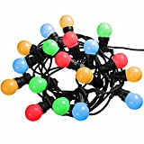 Set of 20 Colour Changingr Globe Festoon Big Bulb Christmas/Party/Barbeque LED Light String - 10m Cable