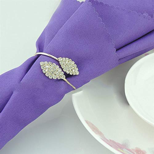 KathShop 10pcs Rhinestone Napkin Ring Holders Pack of 10 Handmade Serviette Buckles for Wedding and Dinner Party by KathShop