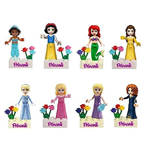 OliaDesign Fairy Tales Snow White/Mermaid/Jasmine Princess Minifigure Building Block Toys Compatible with LEGO