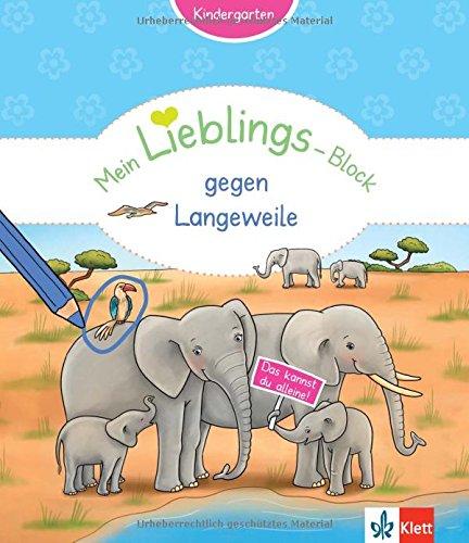 Klett Mein Lieblings-Block gegen Langeweile: Kindergarten ab 3 Jahren. Das kannst du alleine!