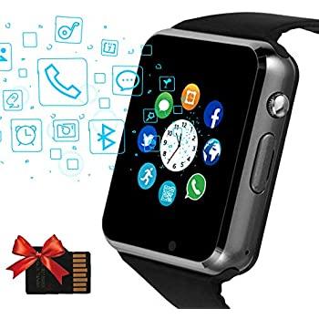 Amazon.com: Smart Watch, Bluetooth Smartwatch with SIM SD ...