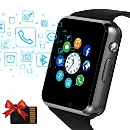 Janker Smart Watch, Bluetooth Smartwatch Android iOS Phone Compatible Unlocked Watch Phone with SIM Card Slot Camera…