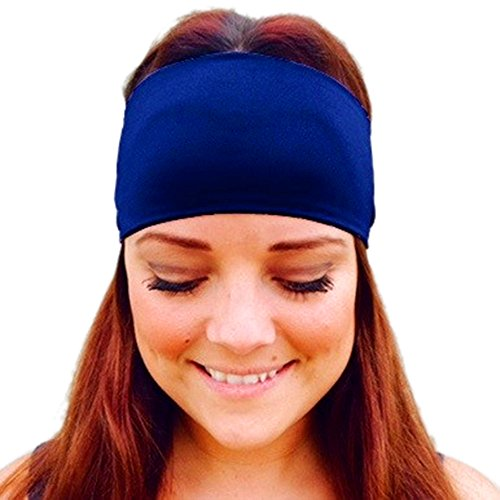 Lookatool LLC Ladies Sports Yoga Sweatband Gym Stretch Headband Hair Band Blue