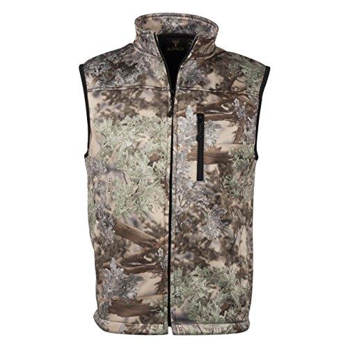 King's Camo Men's Desert Shadow Hunter Soft Shell Vest, Camo, Medium by King's Camo