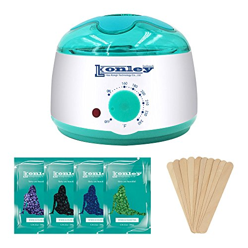 - Wax Warmer, Hair Removal Waxing Kit, Electric Wax Heater with 4 Hard Wax Beans and 10 Wax Applicator Sticks, Depilatory Machine for Facial Skin, Body and Bikini Area for Women and Men