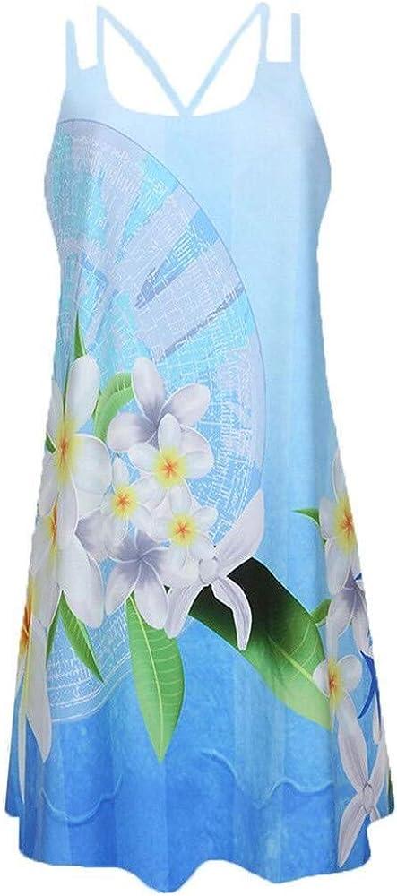 Nuevo Vestido de Tirantes Estampado sin Mangas de Primavera y Verano