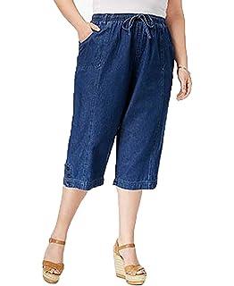892f6d5d89b Karen Scott Womens Plus Cotton Crop Capri Pants Gray 3X at Amazon ...