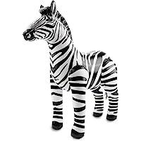 Folat - Cebra hinchable para fiestas - Multicolor - 60 cm