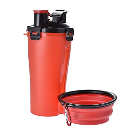 Recorrido de la botella al aire libre de agua del animal doméstico portátil Perro Dispensador de