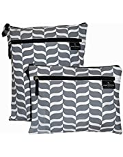 The Fine Living Company USA - Wet and Dry Bag - Twin Pack - 2 Sizes - PEVA Lined