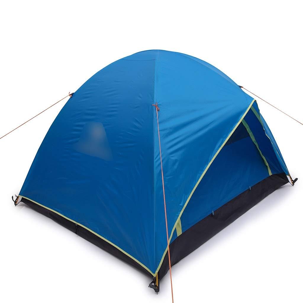 YaNanHome Im Freien Zelt des Zeltes Starkes regendichtes Zelt 2-3 Leute Wildes kampierendes Zeltpaarzelt, Das Zelt wandert (Farbe : Blau, Größe : 210  180  140cm)