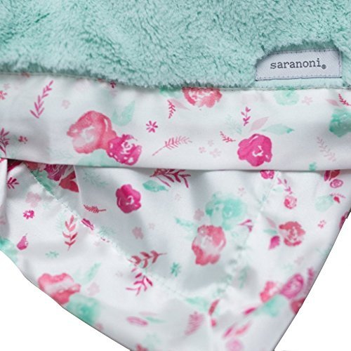 Satin Blankets Floral - SARANONI Oversized Super Soft Home Decorative Extra Large Lush with Satin Back 60