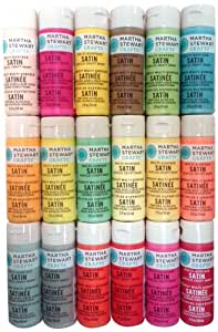 Martha Stewart Crafts Multi-Surface Satin Acrylic Craft Paint (2-Ounce), PROMO767E Best Selling Colors III