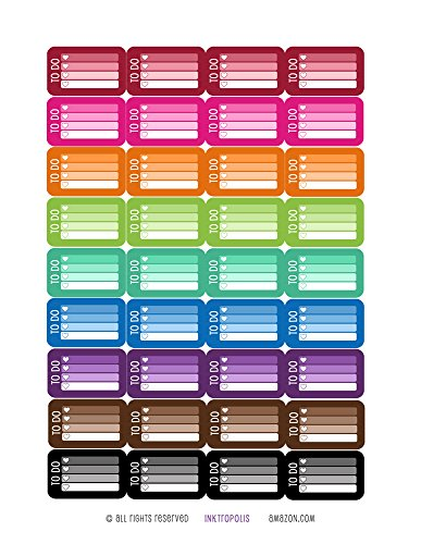 Monthly Stickers Checklist Compatible Vertical product image