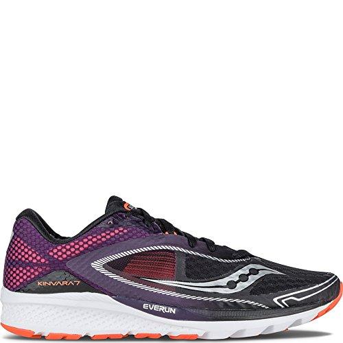 Saucony Men's Kinvara 7 Running Shoe, Black/Purple/Orange,...
