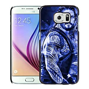 Fashionabe Samsung Galaxy S6 Case ,Popular And Unique Designed Case With Wwe Superstars Collection Wwe 2k15 Roman Reigns 05 Black Samsung Galaxy S6 Cover Phone Case