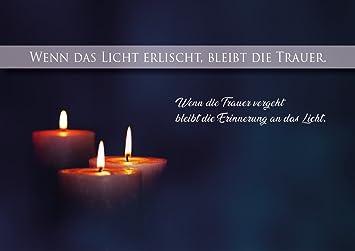 Kerzen Bilder Trauer Trauerkarte, Beileidskarte, Abschied, Doppelkarte mit Kuvert und