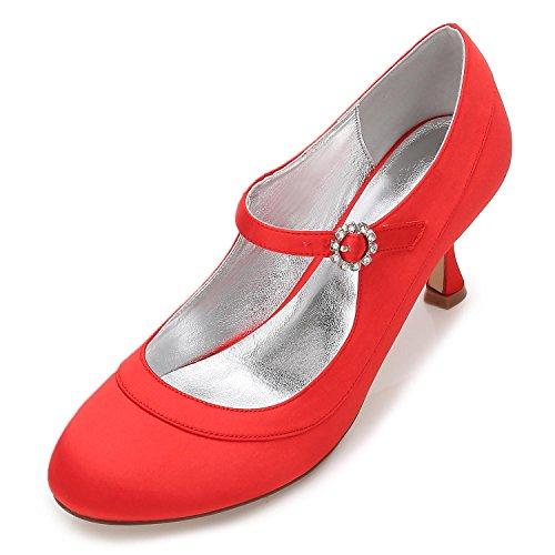 Satén 41 De Tacón Basado L En F17061 Nupcial La Zapatos yc Del Calzan Para Mujeres Boda Red Bajo Los qZCxwBSIC