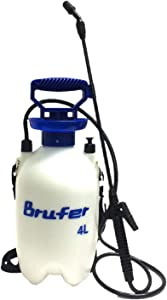BRUFER 72022 Sprayer for Lawns and Gardens or Cleaning Decks, Siding and Concrete - 1.1 Gallon (4L) with Pressure Release Valve