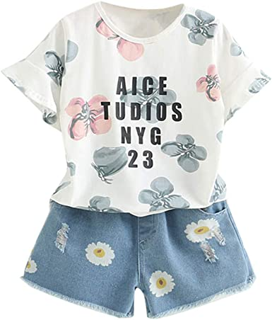 2-7 años, SO-buts Kids Girls Outfits Ropa Verano Casual Chándal ...