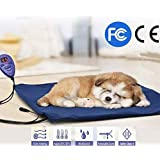 Dogs and Cats Electric Heating Pad Pet Heating Pad Waterproof Adjustable Warming Mat with Chew Resistant Cord Soft Removable Cover Overheat Protection 30 * 40Cm