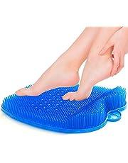 cepillo masajeador de pies de ducha con ventosas antideslizantes y suave, alfombrilla de masaje de acupresión para el cuidado de pies