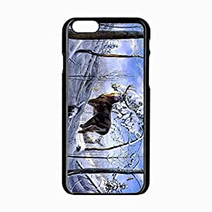 Customized Back Cover Case For iPhone 6 Hardshell Case, Black Back Cover Design 4.7inch Deer Personalized Unique Case For iPhone 6