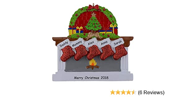 maxora personalized fireplace stockings family ornaments of 4 christmas 2016 gifts worldwide pr705 4