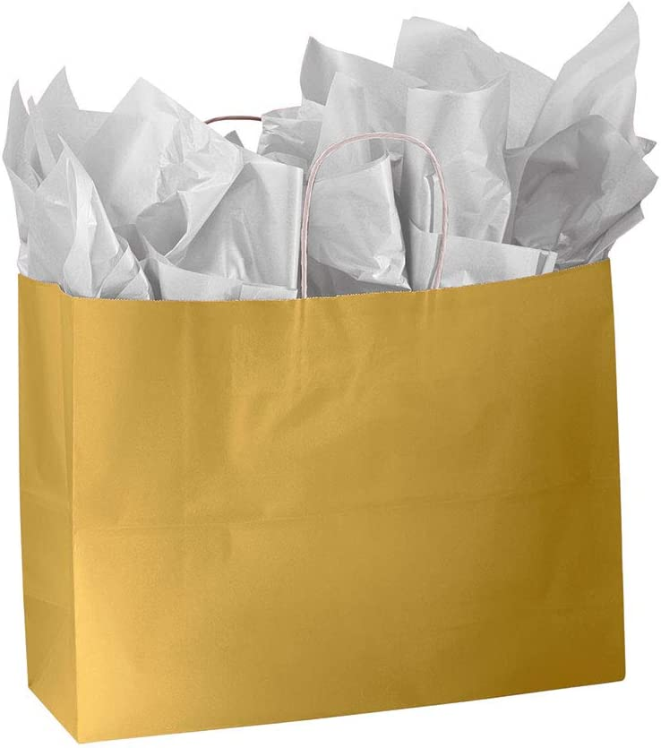 """Paper Shopping Bags 100 Lime Green Gift Merchandise Small 5 ¼"""" x 3 ½"""" x 8 ½/"""""""